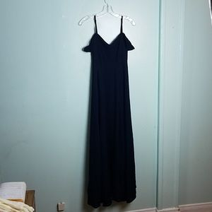 Reformation Poppy Navy Dress